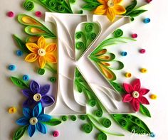 New Ideas For Toxic Love Art Products Quilling Letters, Quilling Paper Craft, Quilling 3d, Paper Crafts, Birthday Card Messages, Cool Birthday Cards, Quilled Paper Art, Paper Quilling Designs, Alphabet Letter Crafts