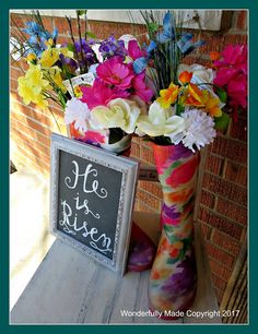 """""""Wonderfully Made"""": Easter Porch http://mywonderfullymade.blogspot.com/2017/04/easter-porch.html"""