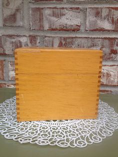"Reserved For Adrian F- Incredible ""oak"" Dovetailed Recipe Box / Index Card File…"