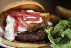 Louro's Belly Goat Burger is made of goat, goat CHEESE, and pork belly.