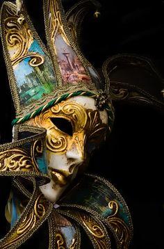 Venice Carnival Masks | Venice Italy - Carnival Mask Photograph - Venice Italy - Carnival Mask ...