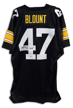"""Mel Blount Pittsburgh Steelers Autographed Black Jersey Inscribed """"4x SB Champ"""""""