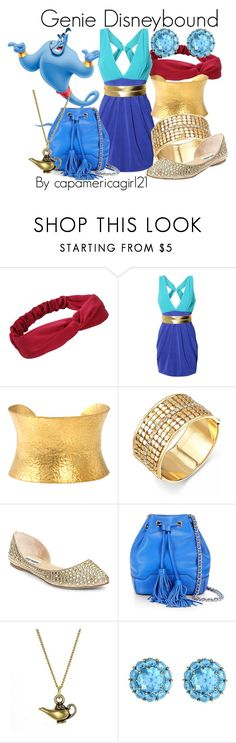 """Genie Disneybound"" by capamericagirl21 ❤ liked on Polyvore featuring Lipsy, Yossi Harari, Thalia Sodi, Steve Madden, Rebecca Minkoff and Color My Life"