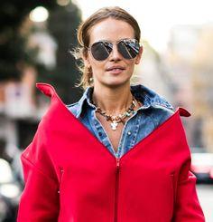 Street looks bijoux à la Fashion Week printemps-été 2017 de Milan