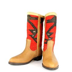Mary Lou Med Boot IV by Kiboots ~ made w/ handpicked vintage kilim rugs