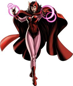 Wanda Marya Maximoff, code named Scarlet Witch is a character of Marvel Comics and has been a regular member of The X-Men and The Avengers. She was created by the late Stan Lee and the late Jack Kirby, and first appeared in X-Men# 4 in March Scarlet Witch Cosplay, Scarlet Witch Marvel, Avengers Comics, Marvel Avengers Alliance, Marvel Heroes, Captain Marvel, Psylocke, Dr Strange, Magie Du Chaos