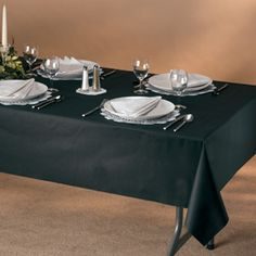 Black Linen Like Paper Banquet Table Covers  - 20 Ct. 95.95