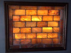Himalayan Salt Brick Wall with Frame & Lighting Kit - 40-41 Bricks