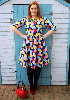 Handmade little big dot Dress, Emery by Christine Haynes