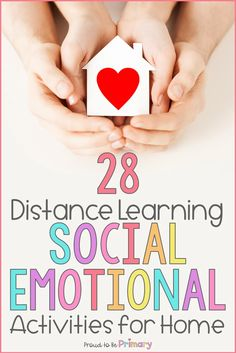 Social-emotional activities can support distance learning at home. Use the ideas to support your lessons online and encourage families to make social-emotional development a priority at home. Grab your free copy of the SEL distance learning pack and editable calendar and children's book list! #socialemotionallearning #distancelearning #homelearning #socialskills #charactereducation