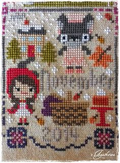 Czerwony Kapturek - Little Red Riding Hood - Once Upon a Time Sampler - The Frosted Pumpkin Stitchery