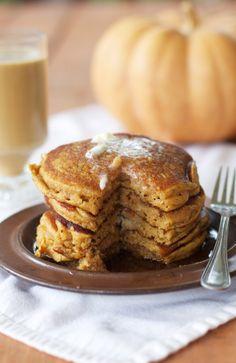 Pumpkin Buttermilk Pancakes #recipe