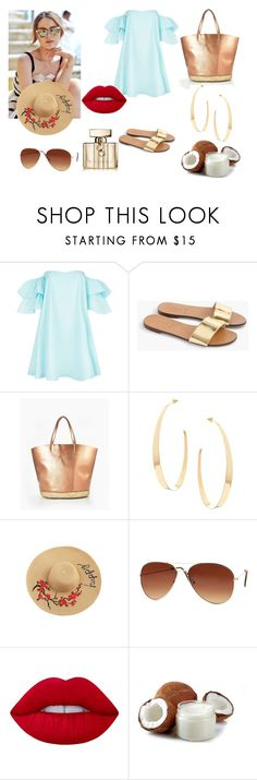 """""""blue"""" by asiak19 on Polyvore featuring moda, Claudie Pierlot, J.Crew, Lana, Lime Crime i Gucci"""
