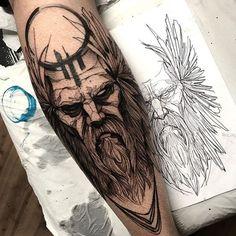 -Viking Tattoos Ideas – Scandinavian Tattoos Ideas for Men and Women Tatuaje escandinavo para hombres See it Tattoos 3d, Bear Tattoos, Badass Tattoos, Body Art Tattoos, Tattoo Drawings, Sleeve Tattoos, Tatoos, Warrior Tattoos, Hades Tattoo