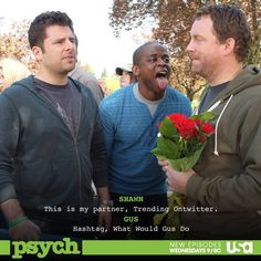 Best Quotes and Pop References from Psych Final Season S. the Day Psych Memes, Psych Quotes, Psych Tv, Tv Memes, Best Tv Shows, Best Shows Ever, Favorite Tv Shows, Psych Season 8, Movies Showing