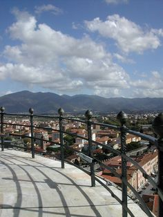 Pisa, Italy. View from the top level of the Leaning Tower.