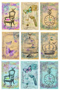 omnia praeclara rara: Freebie on friday...dreamtags...or cards....