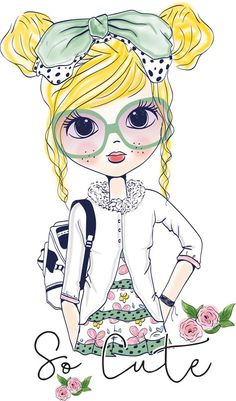 Find Girl stock images in HD and millions of other royalty-free stock photos, illustrations and vectors in the Shutterstock collection. Girl Cartoon, Cute Cartoon, Girl Clipart, Illustration Girl, Art Plastique, Cute Drawings, Cute Art, Art Girl, Vector Art