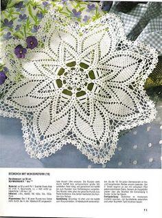 شغل ابره NEEDLE CRAFTS: مفرش كروشيه- crochet doily
