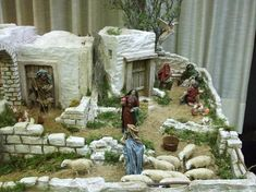 álbumes de fotos Medieval Houses, Christmas Decorations, Holiday Ornaments, Christmas Nativity, Diorama, Scenery, Portal, Projects, Crafts