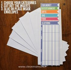 Big fan of the Dave Ramsey method of envelope budgeting? Check out these printable inserts from Clean Mama to simplify your budgeting.