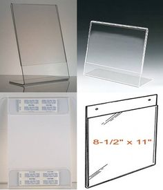 Acrylic Sign Holders-Wholesale Pricing. In the age of COVID19, all business are posting new signs to tell people where to go, to wear their mask, and to remind about social distancing. These signs can be self-standing or mounted on a wall or door. Acrylic Plastic, Clear Acrylic, Acrylic Picture Frames, Plastic Signs, Document Holder, Signage, Countertops, Business, Wall