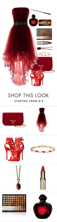 """Raging fire. Gryffindor inspired"" by notamundane ❤ liked on Polyvore featuring Prada, Giuseppe Zanotti and Puck Wanderlust"