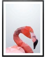 Geo Flamingo-Framed Art Print