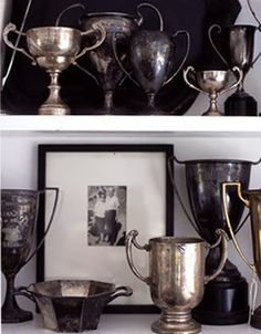 Vintage Trophy Collection.  These hv become so collectable I've only been able to afford one tiny one.  LOL
