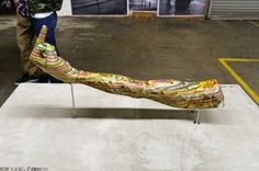 Recycled Skateboard Deck Sculptures by Haroshi