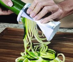 For those who want their veggies as delicious spaghetti. By using the Veggetti Spiral Vegetable Cutter, you can now enjoy pasta without the carbs.