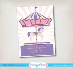 Horse Carousel Birthday Party Printable by LittleDimpleDesigns, $17.99