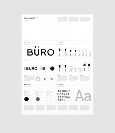 Büro System, Socio Design. love the way this gets your eye to flow around the page !