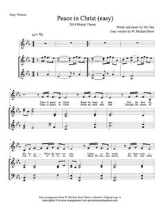 Peace in Christ - Hymns Sheet music Free Lds Sheet Music, Lds Music, Cello Sheet Music, Piano Music, Lds Songs, Lds Hymns, Theme Words, Doctrine And Covenants, In Christ Alone