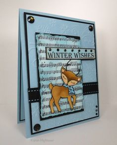 Winter Wishes! This card was created using the new Stamp Tv Kit Winter Cheer. You can find it at http://www.shop.ginakdesigns.com/main.sc