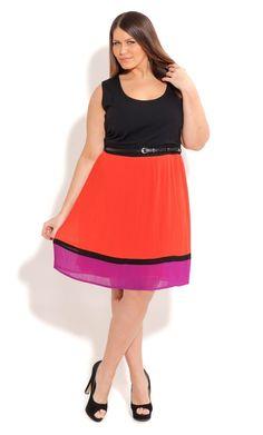 8513c08b2f697 Shop Women s Plus Size Women s Plus Size Contrast Pleat Dress