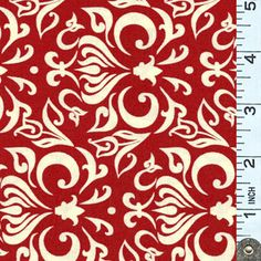 Fabric I want for dining room chairs :Thistledown Abstract Red & White   Abstract swirls and dots in solid white on a solid red background. From the Thistledown collection by Jill Finley of Jillily Studio for Henry Glass Fabrics.