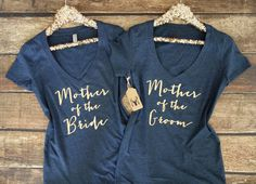 Mother of the Bride Shirt | Mother of the Groom Shirt | Bridesmaid Shirts | This listing is for one bridal shirt. ▲ Shirt Color: White Black Navy Heather Gray Charcoal Turquoise Teal Plum Pink Peach Lilac    ▲ Vneck Shirt Measurements : (laying flat going across chest x length in inches) S - 15 x 26 M - 17 x 26 L - 18 x 27 XL - 19 x 28 XXL - 20 x 28 Our ladies vneck shirts are junior sizing which are 1/2 size smaller than women sizing and are slim and form fitting. We suggest to size up if…