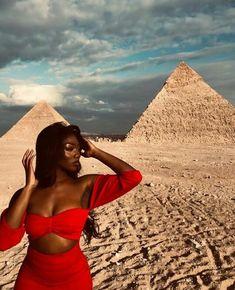 Black girls traveling the world ❤️ 🌎 Black Girl Magic, Black Girls, Black Women, Black Girl Aesthetic, Summer Aesthetic, Black Luxury, Egypt Travel, Destination Voyage, Beautiful Places To Travel