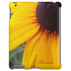 Black Eyed Susan iPad Case *Personalize* #zazzle #ipad #blackeyedsusans