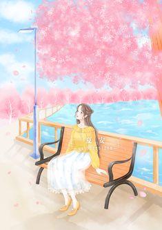 Cartoon Girl Images, Girl Cartoon, Beautiful Anime Girl, Anime Girl Cute, Anime Drawings Sketches, Cute Drawings, Beautiful Landscape Wallpaper, Anime Angel, Manga Girl