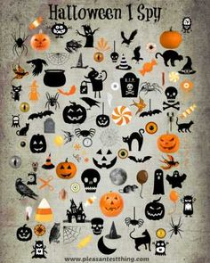 Free Printable Halloween I Spy Game - The Pleasantest Thing