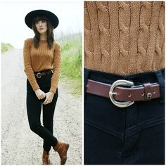 Kiana from Finch & Fawn blog featured the Women's Cable Knit Pullover in Camel.  #Finch #bloggers #pullover