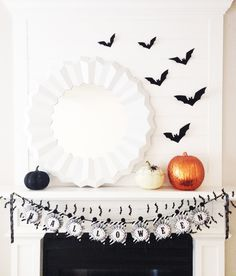 bright & bold: SPPPOOOOKY MANTLE.