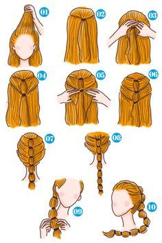 簡単可愛い女の子のヘアスタイル【子供】 - SHILASON Tassel Necklace, Drop Earrings, Beauty, Fashion, Haircolor, Colors, Moda, Fashion Styles, Drop Earring
