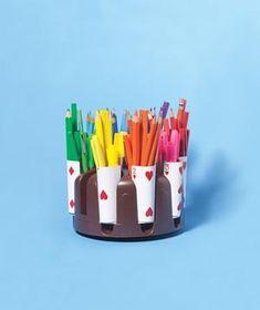 Poker Caddy as Pencil Organizer