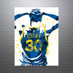 Stephen Curry Golden State Warriors Poster by PixArtsy on Etsy
