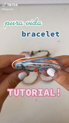 Diy Friendship Bracelets Tutorial, Diy Friendship Bracelets Patterns, Diy Bracelets Easy, Bracelet Tutorial, Summer Bracelets, Handmade Bracelets, Bracelet Crafts, Diy Crafts Jewelry, Diy Bracelets Patterns