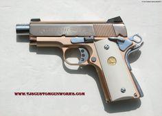 Colt 45 Texas Defender | 18k Rose Gold Colt Defender Series 90 Custom Match .45
