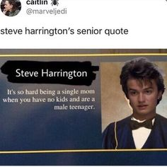 Shut up Steve. Your a mom now... deal with it.